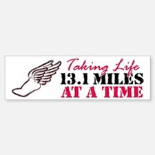Taking Life 13.1 miles Bumper Bumper Sticker