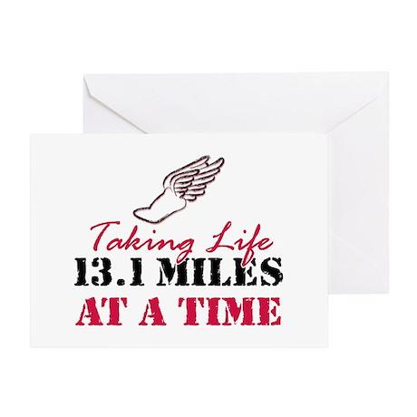 Taking Life 13.1 miles Greeting Card