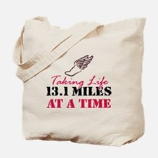 Taking Life 13.1 miles Tote Bag