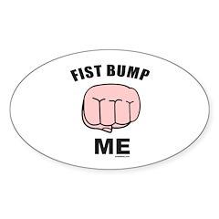 FIST BUMP Oval Sticker (10 pk)