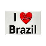 I Love Brazil Rectangle Magnet (10 pack)