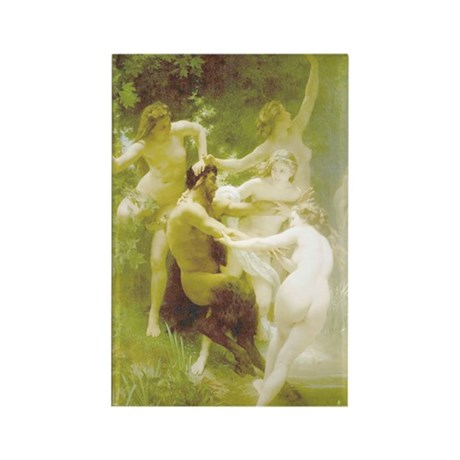 NYMPHS AND SATYR Rectangle Magnet