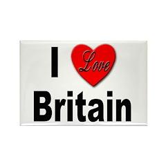 I Love Britain Rectangle Magnet (10 pack)