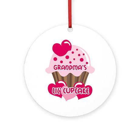 Grandma's Lil' Cupcake Ornament (Round)