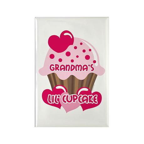 Grandma's Lil' Cupcake Rectangle Magnet
