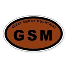 GSM-Great Smoky Mountains Oval Decal
