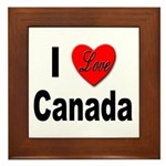 I Love Canada Framed Tile