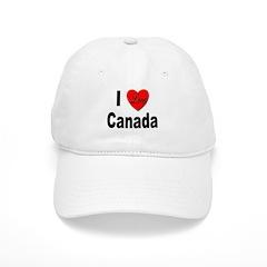 I Love Canada Baseball Cap