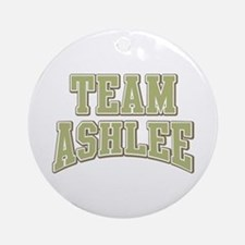 Team Ashlee Personalized Custom Ornament (Round)