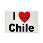 I Love Chile Rectangle Magnet (10 pack)