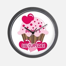 Daddy's Lil' Cupcake Wall Clock