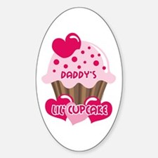 Daddy's Lil' Cupcake Oval Decal