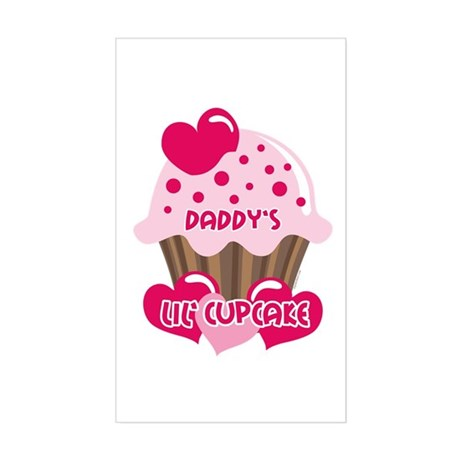 Daddy's Lil' Cupcake Rectangle Sticker