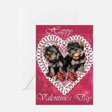 Yorkie Valentines Day Greeting Card
