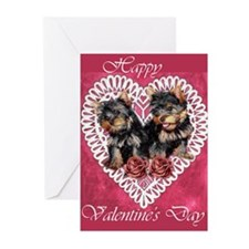 Yorkie Valentines Day Greeting Cards (Pk of 20)