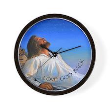 LOVE GOD BACK Wall Clock