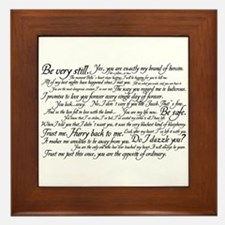 Edward Cullen Quotes Framed Tile