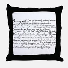 Edward Cullen Quotes Throw Pillow