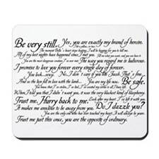 Edward Cullen Quotes Mousepad