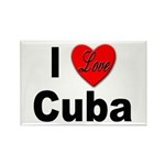 I Love Cuba Rectangle Magnet (10 pack)