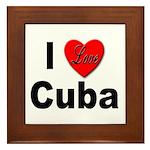 I Love Cuba Framed Tile