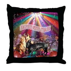 Animal New Year Throw Pillow