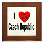 I Love Czech Republic Framed Tile