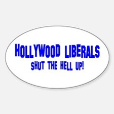 Hollywood Liberals Oval Decal