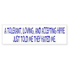 Loving Hippies Bumper Bumper Sticker