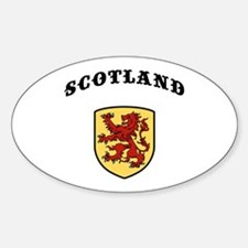 Scotland Oval Decal