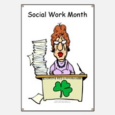 Social Work Month Desk Banner