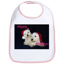 "Credible Critters Westies ""Happy Holidays"" Bib"