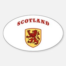 Scotland Oval Decal
