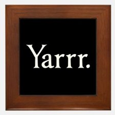 Yarrr Pirate Framed Tile