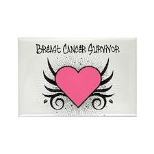 BreastCancerSurvivor Tattoo Rectangle Magnet