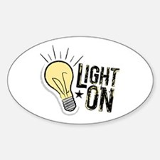"""Light On"" Oval Decal"