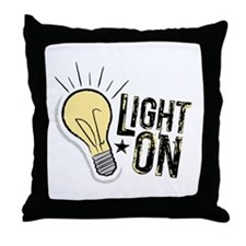"""Light On"" Throw Pillow"