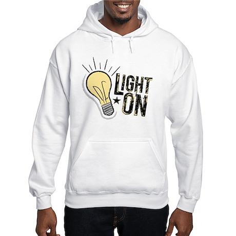 """Light On"" Hooded Sweatshirt"