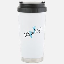 It's A Boy Stainless Steel Travel Mug