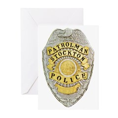 Stockton Police Badge Greeting Cards (Pk of 10)
