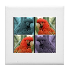 Red Parrot Tile Coaster