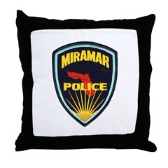 Miramar Police Throw Pillow