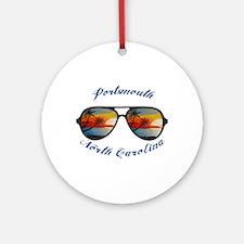 North Carolina - Portsmouth Round Ornament