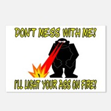Light Your Ass On Fire Postcards (Package of 8)