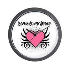 BreastCancerWarrior Tattoo Wall Clock