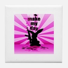 Make My Day Tile Coaster