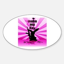 Make My Day Oval Decal