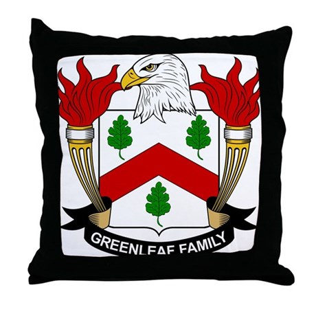 Greenleaf Family Crest Throw Pillow