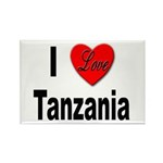 I Love Tanzania Africa Rectangle Magnet (10 pack)
