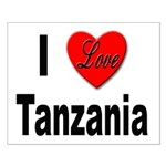 I Love Tanzania Africa Small Poster